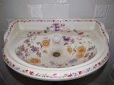 Painted wash basin