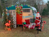 Scotty Camper decorated for Christmas