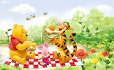 Winnie the Pooh's having a picnic!