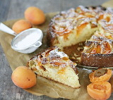 Apricot pear coffee cake