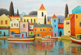 blue and white towers, Evgeni Gordiets