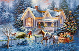 Winter-home-welcome-painting-holiday-artwork-illustration-scener