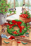 Making the Christmas Wreath