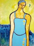 Helen Duckworth, Woman in field with blue moon
