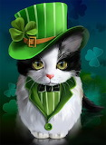 St Patrick's Day Cat