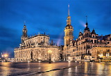 Dresden Cathedral and Castle night