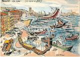 Il porto con la bora (Aldo Aronne)