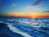 Sea Scape at Sunset