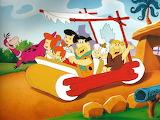 Sunday car drive w/the Flintstones