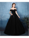 LF074-black-off-shoulder-sweetheart-princess-ball-gown-1-686x900