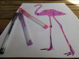 for kizzie4 flamingo colored by dankenstyne