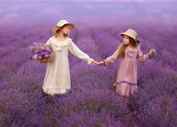 Two Girls On A Lavender Field