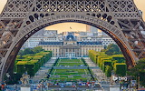 View of Eiffel Tower from the Trocadero. Paris. France
