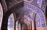 #Interior View of the Shah Mosque Isfahan Iran