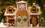Gingerbread house with double doors