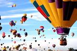 Hundreds of Hot Air Balloons Albuquerque New Mexico USA