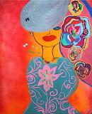 Femme aux couleurs