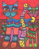 Cat Family by Katie Kinsman