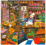 Mr Mead in the garden shop - John Vernon Lord