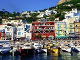Boats Harbor Capri Sunny Day