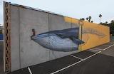 Seawall Mural in New Zealand