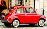 Shiny Red Fiat 500