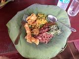 Lunch on a lotus leaf, Sri Lanka (my photo)