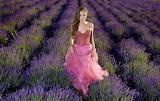 Girl in lavender field