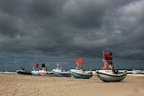 Thunderclouds over boats