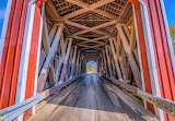 A look inside covered bridge over Spoon River Illinois