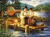 getting first fishing lesson