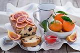 Bizcocho con mandarinas