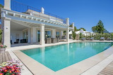 Luxury white villa, pool and garden, Mallorca