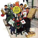 Bus Stop at Christmas~ StevanDohanos