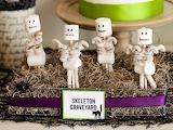 Skeleton Graveyard Pretzels