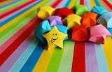 ☺♥ Paper stars...