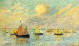 The Return of The Fishing Fleet, Croisic. Ferdinand du Puigadeau