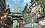 Art Asia building mountain bamboo lights waterfalls city 93166 1