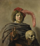 """Frans Hals """"Young Man with a Skull"""""""