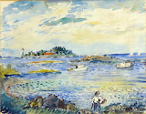 Duty Boats in the Bay, 1934 - David Burliuk