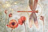 Dragonfly and Poppies