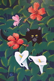 John Harrison - hibiscus thicket with cat 20200708 163034~2