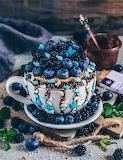 Blueberry mug dessert