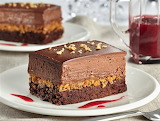 Brownie chocolate mousse cake