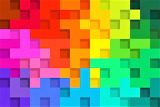 #Rainbow Abstract Colored Squares