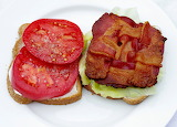 ^ Bacon weave, lettuce and tomato sandwich