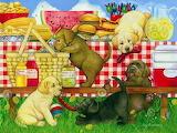 Shchenki na piknike