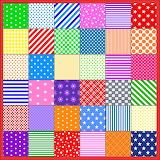 Colour Patches -Spots, Stripes, Stars & Checks