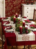^ rich shades of red and green on your holiday table