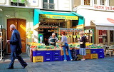 People shopping at street market